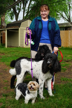 The Pet Sitters customer with dogs, Crystal, Minnesota